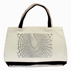 Points Circle Dove Harmony Pattern Basic Tote Bag (Two Sides)