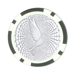Points Circle Dove Harmony Pattern Poker Chip Card Guard