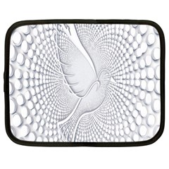 Points Circle Dove Harmony Pattern Netbook Case (Large)