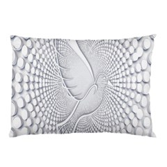 Points Circle Dove Harmony Pattern Pillow Case