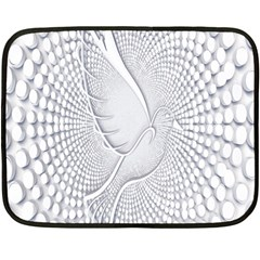 Points Circle Dove Harmony Pattern Double Sided Fleece Blanket (Mini)