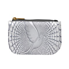 Points Circle Dove Harmony Pattern Mini Coin Purses