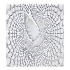 Points Circle Dove Harmony Pattern Shower Curtain 66  x 72  (Large)