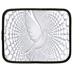Points Circle Dove Harmony Pattern Netbook Case (XXL)