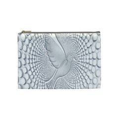 Points Circle Dove Harmony Pattern Cosmetic Bag (Medium)