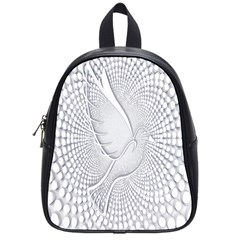 Points Circle Dove Harmony Pattern School Bags (Small)