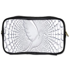 Points Circle Dove Harmony Pattern Toiletries Bags 2 Side