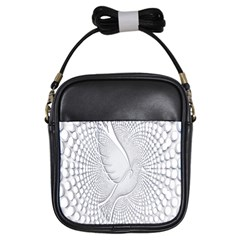 Points Circle Dove Harmony Pattern Girls Sling Bags