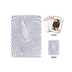 Points Circle Dove Harmony Pattern Playing Cards (mini)