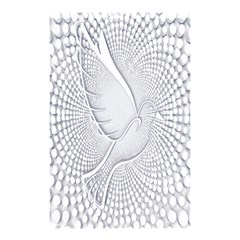 Points Circle Dove Harmony Pattern Shower Curtain 48  X 72  (small)