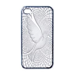 Points Circle Dove Harmony Pattern Apple iPhone 4 Case (Black)