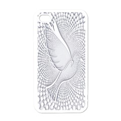 Points Circle Dove Harmony Pattern Apple iPhone 4 Case (White)