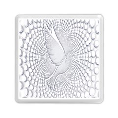 Points Circle Dove Harmony Pattern Memory Card Reader (Square)