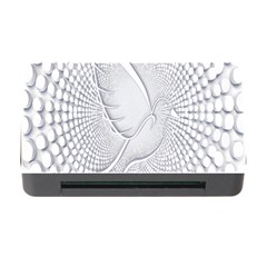 Points Circle Dove Harmony Pattern Memory Card Reader With Cf