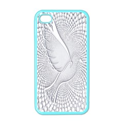 Points Circle Dove Harmony Pattern Apple Iphone 4 Case (color)