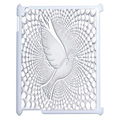 Points Circle Dove Harmony Pattern Apple iPad 2 Case (White)