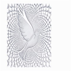 Points Circle Dove Harmony Pattern Small Garden Flag (two Sides)