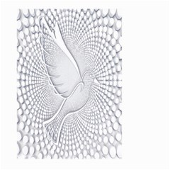 Points Circle Dove Harmony Pattern Large Garden Flag (two Sides)