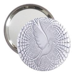Points Circle Dove Harmony Pattern 3  Handbag Mirrors
