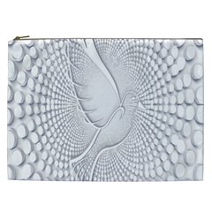 Points Circle Dove Harmony Pattern Cosmetic Bag (XXL)