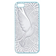Points Circle Dove Harmony Pattern Apple Seamless Iphone 5 Case (color)