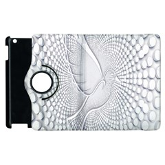 Points Circle Dove Harmony Pattern Apple iPad 2 Flip 360 Case