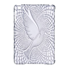 Points Circle Dove Harmony Pattern Apple Ipad Mini Hardshell Case (compatible With Smart Cover)