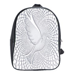 Points Circle Dove Harmony Pattern School Bags (xl)
