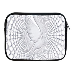 Points Circle Dove Harmony Pattern Apple Ipad 2/3/4 Zipper Cases