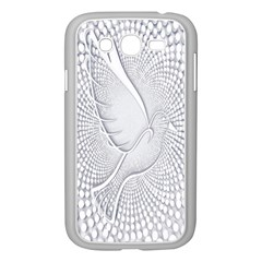 Points Circle Dove Harmony Pattern Samsung Galaxy Grand Duos I9082 Case (white)