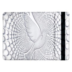 Points Circle Dove Harmony Pattern Samsung Galaxy Tab Pro 12 2  Flip Case