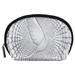Points Circle Dove Harmony Pattern Accessory Pouches (large)