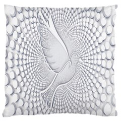 Points Circle Dove Harmony Pattern Standard Flano Cushion Case (two Sides)
