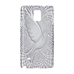 Points Circle Dove Harmony Pattern Samsung Galaxy Note 4 Hardshell Case