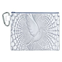 Points Circle Dove Harmony Pattern Canvas Cosmetic Bag (xxl)