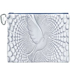 Points Circle Dove Harmony Pattern Canvas Cosmetic Bag (xxxl)