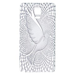 Points Circle Dove Harmony Pattern Galaxy Note 4 Back Case