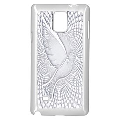 Points Circle Dove Harmony Pattern Samsung Galaxy Note 4 Case (white)