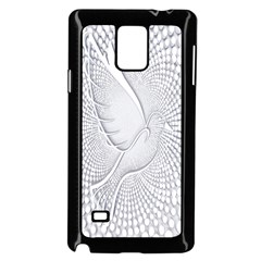 Points Circle Dove Harmony Pattern Samsung Galaxy Note 4 Case (Black)