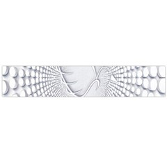 Points Circle Dove Harmony Pattern Flano Scarf (large)