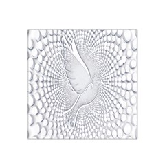 Points Circle Dove Harmony Pattern Satin Bandana Scarf