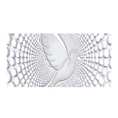 Points Circle Dove Harmony Pattern Satin Wrap
