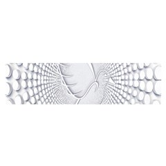 Points Circle Dove Harmony Pattern Satin Scarf (Oblong)