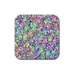 Presents Gifts Christmas Box Rubber Square Coaster (4 pack)