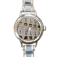 Post Office Old Vintage Building Round Italian Charm Watch