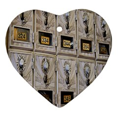 Post Office Old Vintage Building Ornament (Heart)