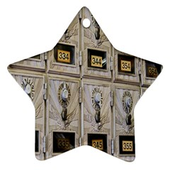 Post Office Old Vintage Building Ornament (Star)