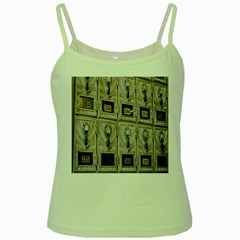 Post Office Old Vintage Building Green Spaghetti Tank