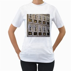 Post Office Old Vintage Building Women s T-Shirt (White) (Two Sided)