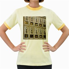 Post Office Old Vintage Building Women s Fitted Ringer T Shirts